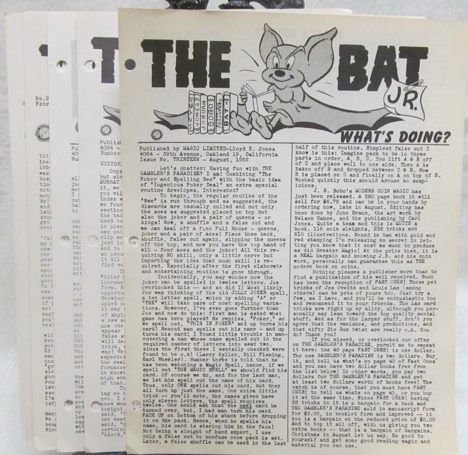 Primary image for The Bat Jr. 1953-1955 misc. Issues