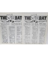 The Bat Index Numbers 1-50 and 51-86 - $24.50