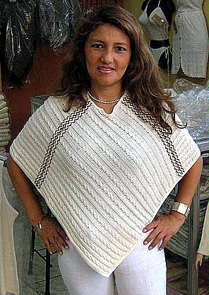 white Poncho from