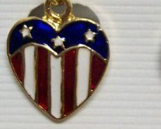 4th of July Americana Patriotic Earrings Red Blue CLIP