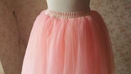 Blush Pink Tulle Skirt Knee Length Ballerina Tulle Skirt Plus Size image 3