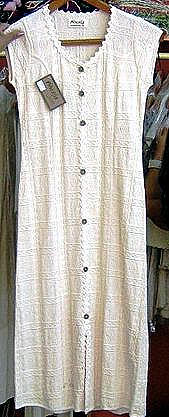 White sleeveless dress, pure ekological pima cotton