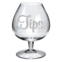 """Make your Own TIPS Jar Frosted Etched Glass Vinyl Sticker Decal 2""""h x 3""""w - $5.99"""
