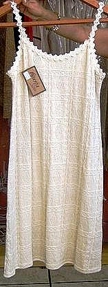White sleeveless Dress,ecological pima cotton