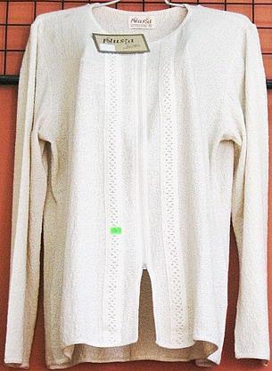 White longsleeve blouse,ecological pima cotton
