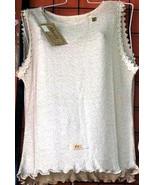 Sleeveless Top, shirt made of ekological Pima Cotton  - $22.00