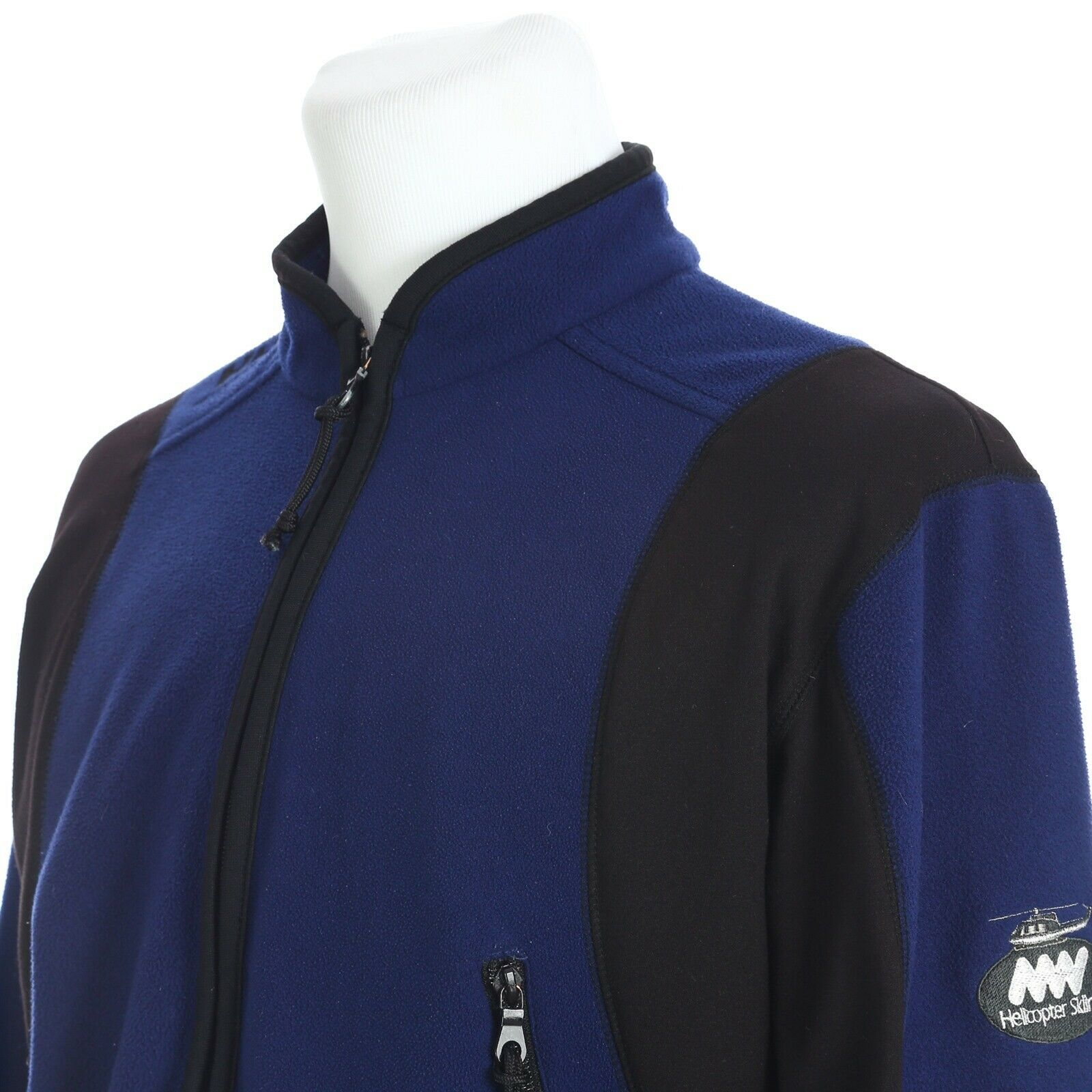 Primary image for Helly Hansen Full Zip Outdoor Ski Fleece Jacket Coat Mens Large Blue Black