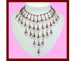Red crystal necklace   earrings set thumb155 crop