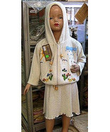 Set of Skirt and hooded jacket,ecological pima cotton  - $66.00