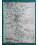 EGYPT Environs of Cairo Memphis Gizeh Helwan Abusir Danshur - 1911 MAP - $30.60