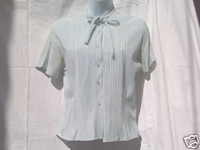 White Nylon Ladies Blouse