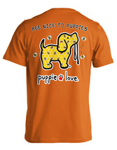 Puppie Love Rescue Dog Adult Unisex Short Sleeve Cotton Tee,Bee Nice Pup