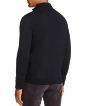 Mens Store Bloomingdales Quarter Zip Merino Sweater 2XL XXL Navy Blue B7-02M - $38.68