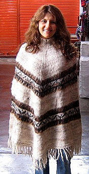 Peruvian poncho,outerwear made of Alpaca wool