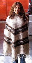 Peruvian poncho,outerwear made of Alpaca wool  - $93.00