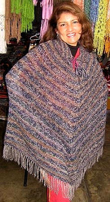 Ethnic poncho from Peru, outerwear