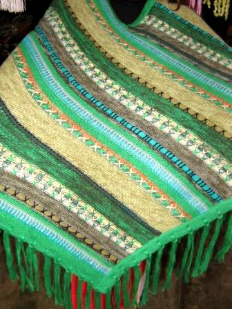 Green Poncho Cape, natural Alpacawool,Outerwear