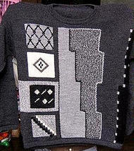 Sweater with round neck made of pure Alpacawool & Hand embro - $108.00