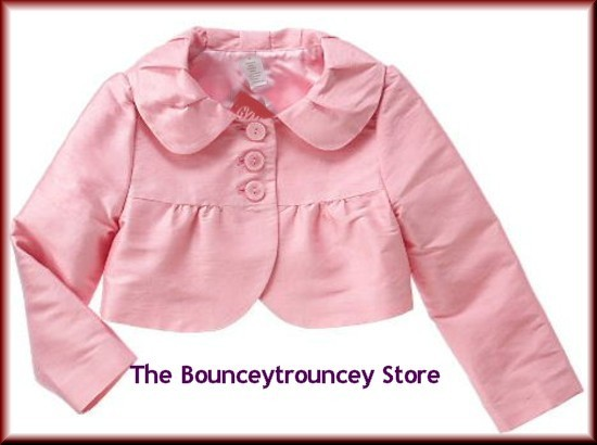 NWT Gymboree ICE CREAM SOCIAL Pink SILK Jacket  Sz 10