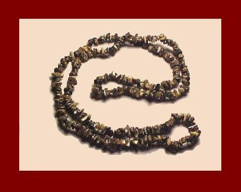 Tigers eye necklace3 36in