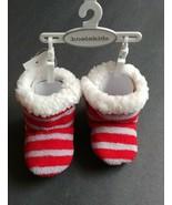 Baby Girl Boy Toddler Koala Kids Christmas Faux Fur Slippers Striped Sof... - $12.74