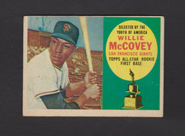 1960 Topps #316 Willie McCovey Rookie Giants HOF - $80.96
