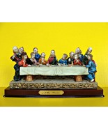 The Lord's Last Supper Statue Figurine  Jesus Christ Apostles Meal Relig... - $48.43