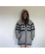 Gray hooded sweater, made of Alpaca wool - $98.00
