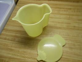 tupperware millionaire line pastel yellow cream pitcher small pitcher fl... - $14.20