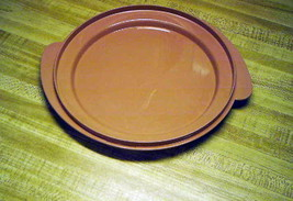 Tupperware lid only hard plastic mauve colored tupperware lid only uniqu... - $14.65