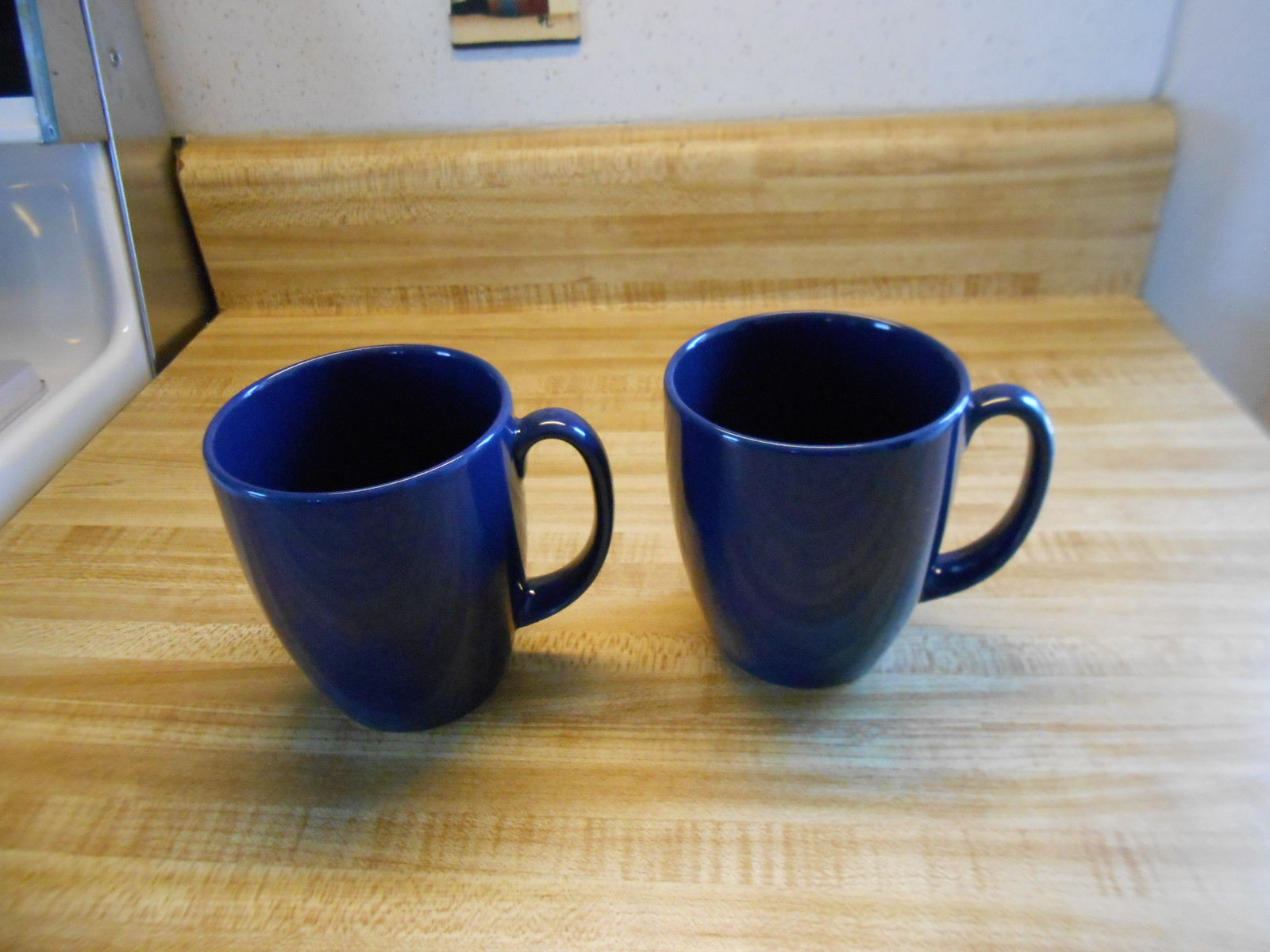 Primary image for corelle stoneware mugs coffee mugs navy blue stoneware coffee mugs 2 ct