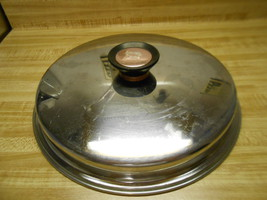 """duncan hines lid only large stainless steel lid by duncan hines 10 1/4"""" ... - $10.40"""