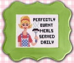 Sassy Lady Burnt Meals cross stitch chart Pinoy Stitch - $6.30