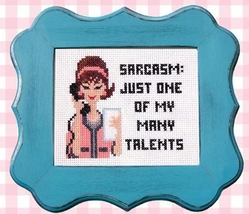 Sassy Lady Sarcasm cross stitch chart Pinoy Stitch - $6.30