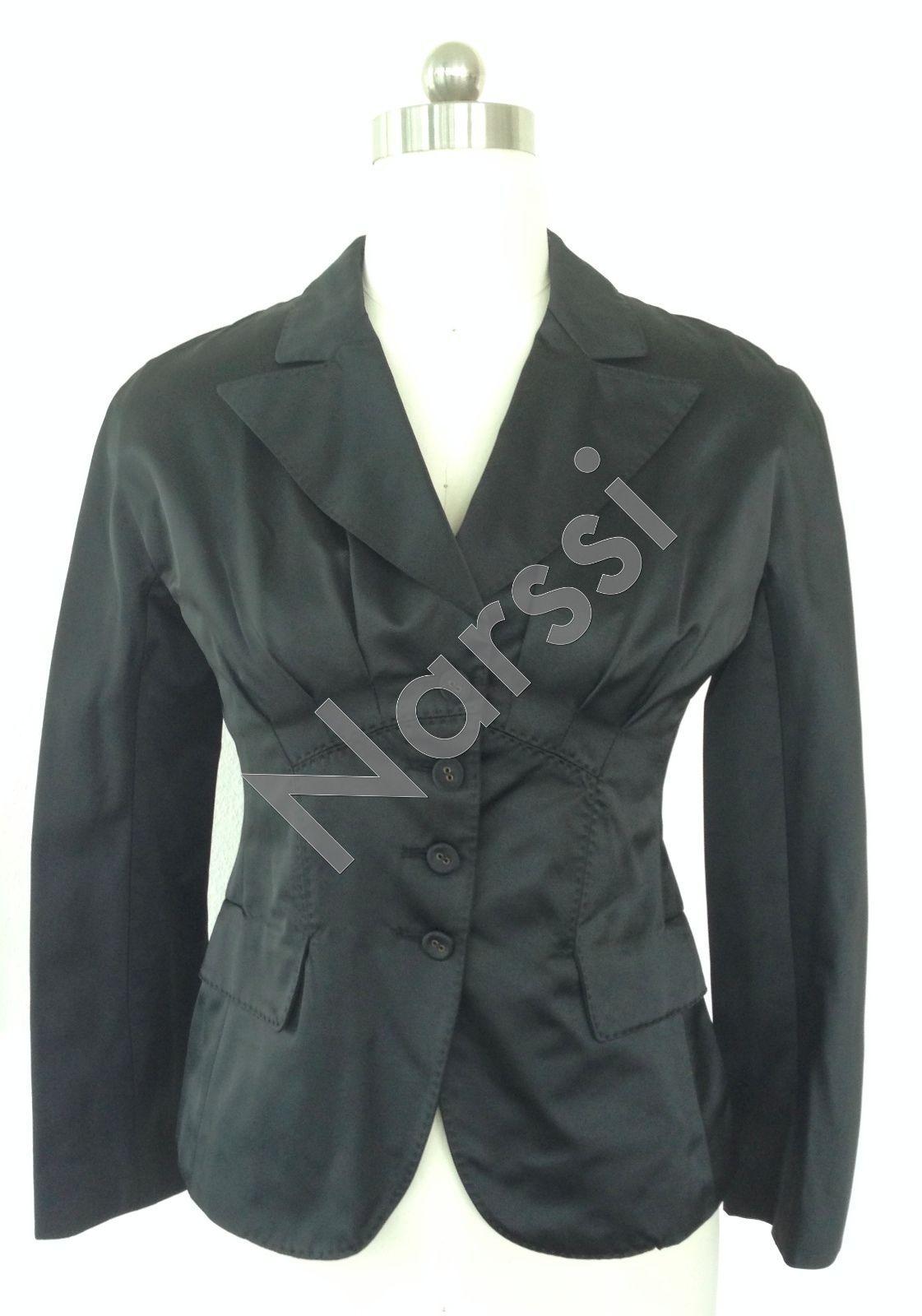Super Chic Bottega Veneta Black Luster Blazer Sz 38 - $429.00