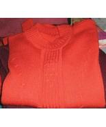 Red sweater, round neck made of Alpaca wool - $78.00