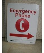 Large Emergency Phone Sign 24X18 - $29.95