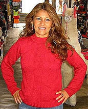 Red sweater,made of pure Alpacawool,round neck  - $97.00