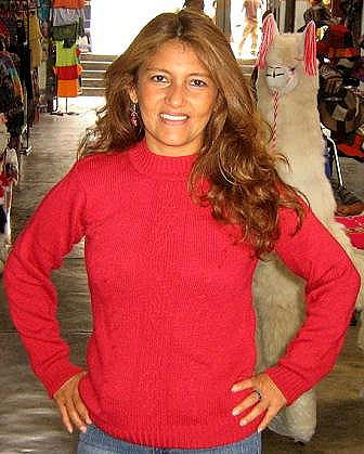 Red sweater,made of pure Alpacawool,round neck
