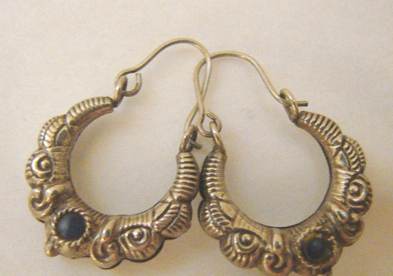 REPOSE STERLING HOOP EARRINGS