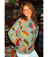 Sweater made of pure Alpacawool, colorful design - $150.00