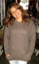 Brown sweater,made of pure Alpacawool - $99.00
