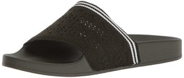Women's Vibe Slide Sandal Textle And Synthetic Sole Slip On Design Pinstripe - $28.97+