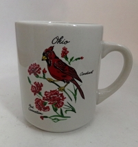 Vintage Collectible Ohio Cardinal Red Carnation State Cup Mug - $8.00