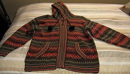 Hooded Cardigan, jacket made of Alpacawool