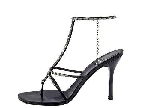 Stuart Weitzman Size 9 Women's Shoes Evening Black Strappy Sandals Heels Jewels