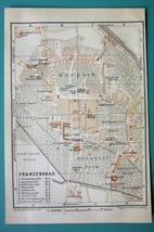 1905 MAP Baedeker - CZECH REPUBLIC Frantiskovy Lazne Franzensbad City Plan - $6.71