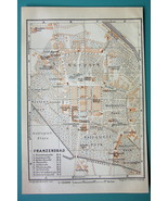 1905 MAP Baedeker - CZECH REPUBLIC Frantiskovy Lazne Franzensbad City Plan - $6.71