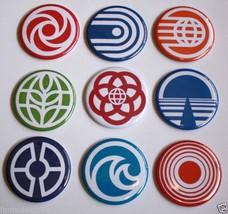 Epcot Logo Icon Magnet Set Spaceship Earth Land Energy Vintage Disney Art  2.25 - $25.00