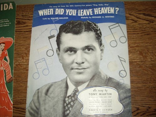 Primary image for When Did You Leave Heaven/Sheet Music